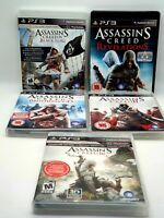 Assassins Creed Game Bundle - PS3 - All Tested and Working includes Manuals