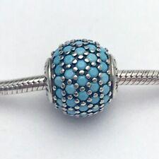 Exquiste Pandora Essence Turquoise Crystal Wisdom S925 ALE Charm Bead 796065NTQ