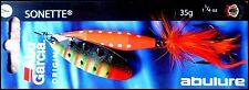 RARE ABU GARCIA SONETTE spinner 35 g (1 - 1/4 oz) YP colour (dressed treble!)