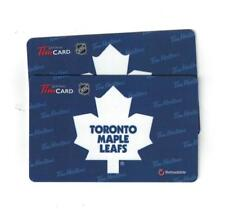 ( 2 ) Toronto Maple Leafs Tim Hortons Gift Cards