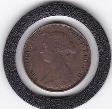 Very  Sharp  1861   Queen  Victoria   Half  Penny (1/2d)  Bronze  Coin