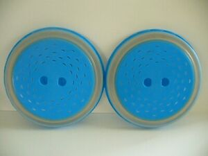 Set of Two Collapsible Microwave Food Covers