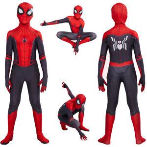 Kids Boys Spiderman Super Hero Cosplay Costume Fancy Dress Jumpsuit Suit NV AU