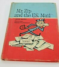 MR ZIP AND THE US MAIL Jene Barr HARDCOVER 1964 vintage rare hardcover