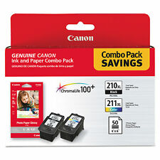 Canon PG 210XL / CL 211XL Ink & 50-Sheet Paper Combo Pack (2973B004)