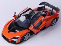 McLaren, Senna, Orange, Classic Metal Model Car, Motormax 1/24