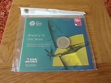 ROYAL MINT 2018 RAF CENTENARY BRAVERY IN THE SKIES SPITFIRE UK BRILLIANT £2 COIN