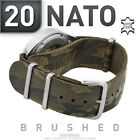 PILOT LEATHER NATO G10 STRAP20 st.steel brushedmilitary camouflage watch strap
