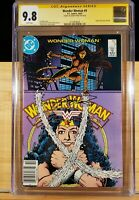Wonder Woman 9 CGC SS 9.8 Signed Perez 1st Origin Cheetah 1987 White Pages
