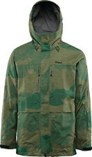2016 NWOT MENS THIRTYTWO BLYTHE SNOWBOARD JACKET $230 L green camo hooded logo