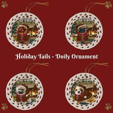 The Stocking Hung Dog Cat Pet Photo Lovers Doily Christmas Tree Ornament Gift