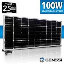 GENSSI 100W 12V Solar Panel Mono 100 Watts 12 Volts RV Boat Off Grid