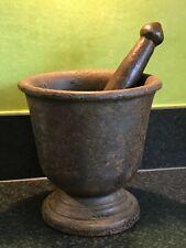 Vintage Antique Large Cast Iron Pestle & Mortar Rajasthan India 6.5kgs Grinder