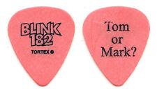 Blink-182 Tom DeLonge Tom Or Mark? Orange Guitar Pick - 2003 Tour