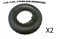 4.00 - 8 (4.80 / 4.00 - 8) WHEELBARROW TYRE AND INNER TUBE INNERTUBE GARDEN X2