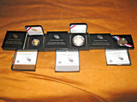 2 sets Baseball Hall of Fame Coins 75th Anniversary Commemorative Proof sets.