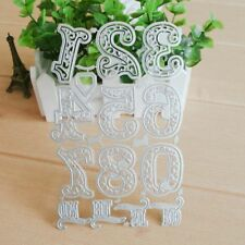 Lace Numbers Metal Cutting Dies Stencil Scrapbooking Embossing Card Craft