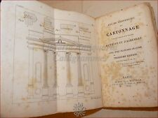 DE BECOURT, A.: CARTONNAGE 1834 Audot con Tavole Cartamodelli Modellismo Origami