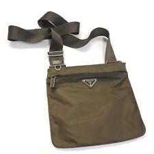 Vintage Prada Sport Nylon Tessuto Crossbody Shoulder Bag Brown 4VA032