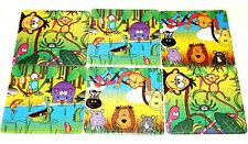 12pc mini Jungle Animals JIGSAW PUZZLE Party Bags Filler toy GOODY child kids