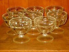 Vintage 8 Single Scoop Glass Ice Cream Dishes