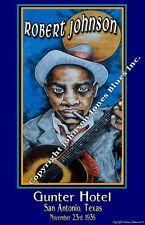 Robert Johnson.Poster at Gunter Hotel by Cadillac Johnson