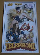"LADY GAGA & BEYONCE Telephone 2010 promo only 16"" x 24"" print"