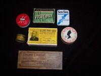 Seven Collectible Small Tins and Boxes