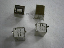 10pcs Usb Type B Female 4pin Dip Printer Port D Shaped Vertical Socket Connector