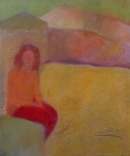 OSNAT REISMAN BEN SHALOM , Oil on Canvas , Woman in The Landscape , Signed, Uri
