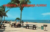 Postcard Picnic Table Fort Lauderdale Florida