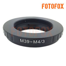 M39-M4/3 Leica L39 M39 Lens to Micro 4/3 M43 Adapter ring EP1 EP2 DMC-G1 GF1 GH1