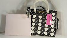 Betsey Johnson Crossbody Tote Pink Bag Satchel Hearts & large CLUTCH  Bag