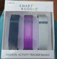 NEW Smart Buddie Fashion Activity Tracker 3 Bands for Fitbit flex  size Large
