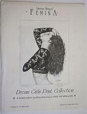 1993 Lurene Haines Femina Dream Girls Signed LE 279/500 w/4 11 x 14 inch Prints