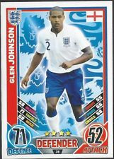 #36 TOPPS - MATCH ATTAX CARD GAME  - ENGLAND 2012 - GLEN JOHNSON - ENGLAND