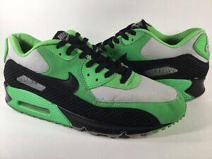 Nike Air Max 90 Premium Poison Green Snake Black Grey Size 14 Rare 333888-302