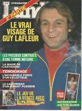 Le Lundi October 24th 1981 #5 N. 37 GUY LAFLEUR / CONAWAY ++ French Magazine