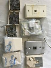 Assorted Surface and Wall Mount Telephone Jacks RJ-11