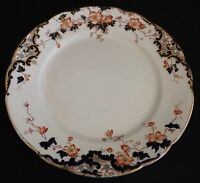 Hancock & Sons England Louis XV Multicolor Dinner Plate w/ Gold Trim