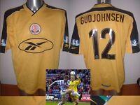 Bolton Wanderers GUDJOHNSEN Large Vintage Reebok Shirt Jersey Football Soccer Y