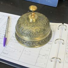 Luxury Hotel Desk Brass Bell (11 x 13.5cm) - for B&B, Hotel & Restaurant