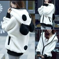Cute Bear Ear Panda Winter Warm Hoodie Coat Women Hooded Jacket Outerwear Jumper