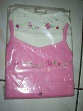 2 Mädchen-Tops rosa weiß Größe 134/140 von TCM - Neu