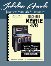"NEW! Rock Ola 478 ""Mystic"" Jukebox Service, Parts & Troubleshooting Manual"