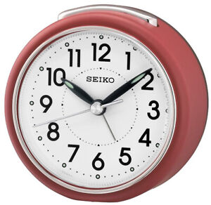 Seiko Alarm Clock With Quiet Output Red QHE125R