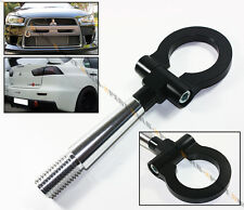 08-2016 LANCER EVO X 10 MR BLK FRONT/REAR FOLDING SCREW ON STYLE RACING TOW HOOK