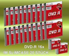 DVD -R 20 Stück im Slimcase 16x Speed 4,7 GB Rohlinge Boeder DVD -R 20 Stück