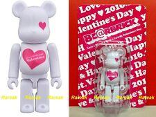 Be@rbrick 2016 Love & Happy Saint Valentine Day 100% White Pink Heart Bearbrick