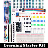 Electronic Component Starter Kit Breadboard LED Buzzer Resistor Transistor